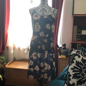 NWT Blue Floral Fit & Flare Sundress